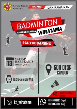 Badminton Rutin Karang Taruna