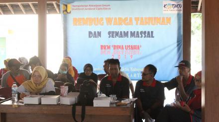 Senam dan RWT BKM Bina Usaha Desa Canden