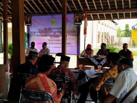 Musrenbangdes Rencana Kerja Pemerintah Desa Canden Tahun Anggaran 2021