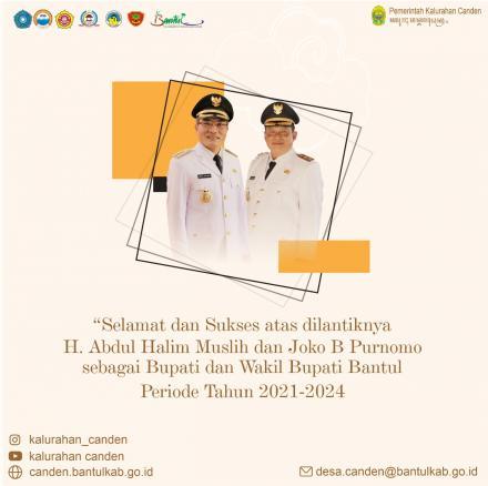 Selamat kepada Bapak H. Abdul Halim Muslih dan Bapak Joko B Purnomo
